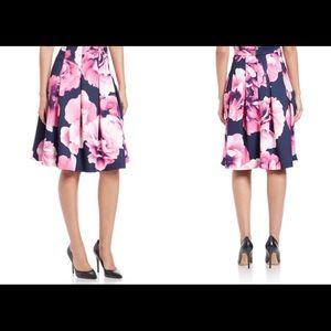 NEW ELIZA J Floral A Line Skirt